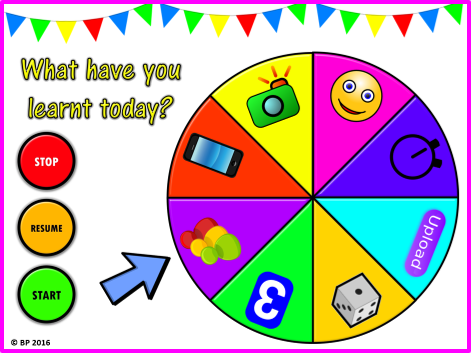 Plenary Selector Wheel VERSION 2! What have I learnt today? 8 generic plenary activities NO planning