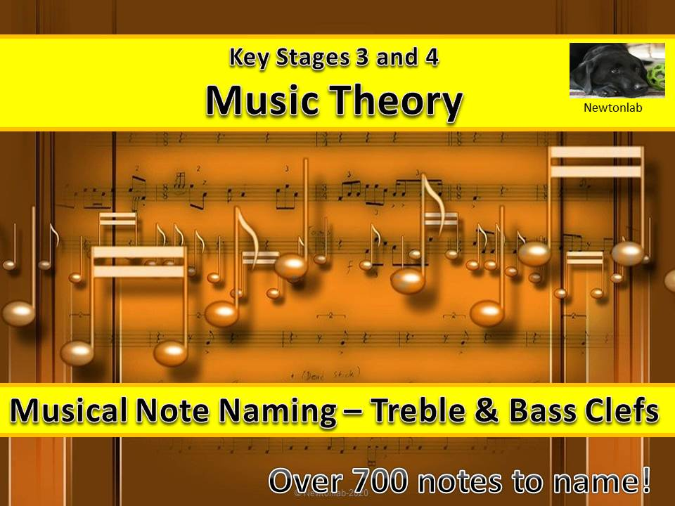 Musical Note Naming - Treble & Bass Clefs - Key Stages 3 and 4