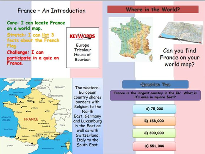 Primary french resources geography france quiz an introduction to the country gumiabroncs Gallery
