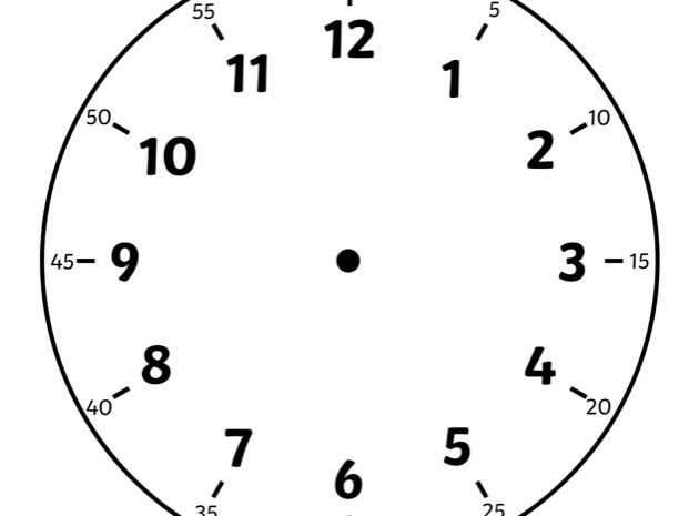 picture relating to Printable Clock Face With Hands named Blank Clock Confront Worksheet Megapack