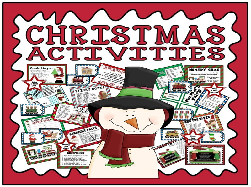 CHRISTMAS ACTIVITIES AND GAMES TEACHING RESOURCES EYFS KS1 KS2 KS3