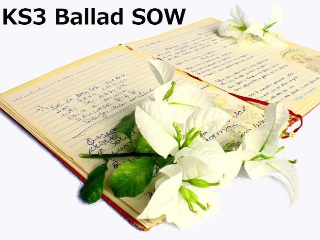 KS3 Ballad SOW