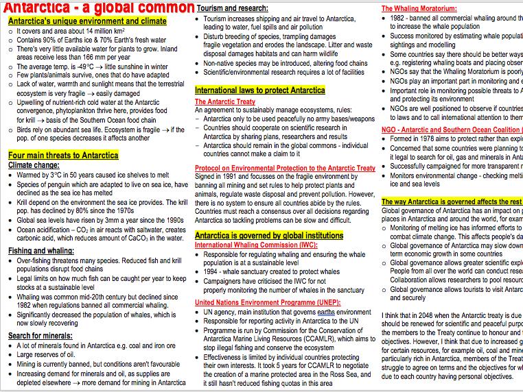 AQA A-level Geography Human case studies
