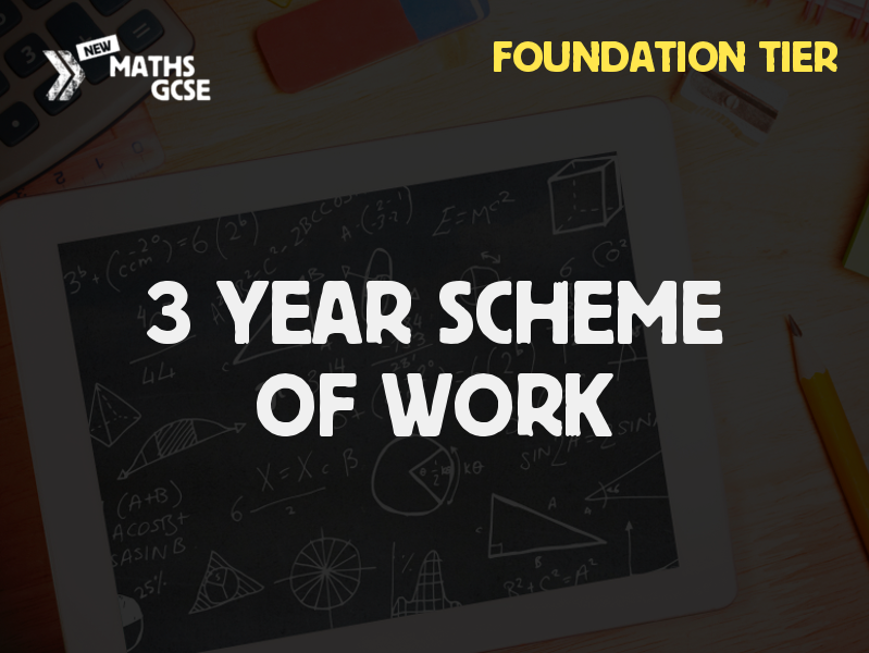 GCSE Maths - 3 Year Scheme of Work (Foundation Tier) - 2018/19 Version