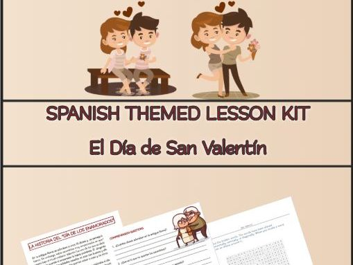 Spanish San Valentin Lesson Kit