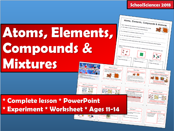 Atom, elements, compounds & mixtures 11-14