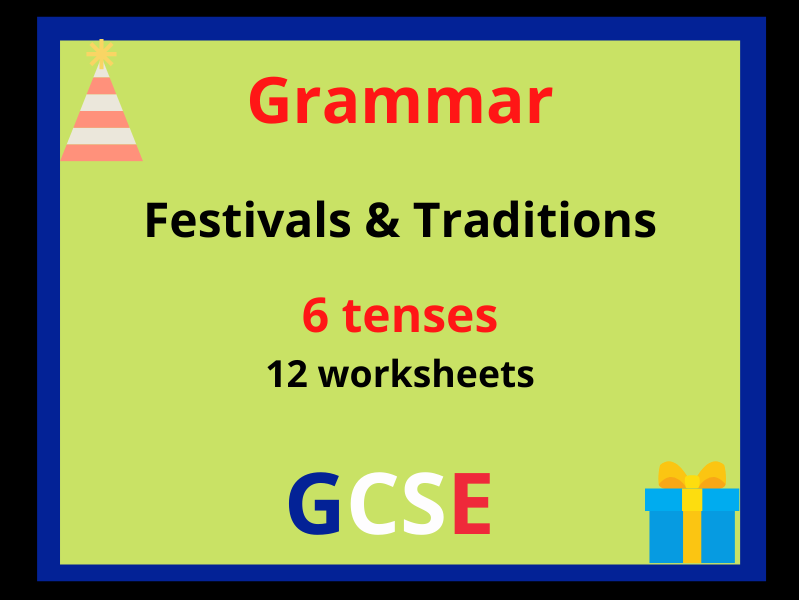 French tenses revision festivals traditions
