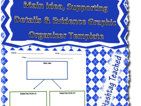 Main Idea, Supporting Details and Evidence Graphic Organizer