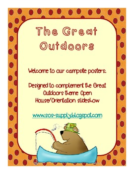 "Back to School ""Welcome to our Campsite"" Posters (suitable for UK and US)"