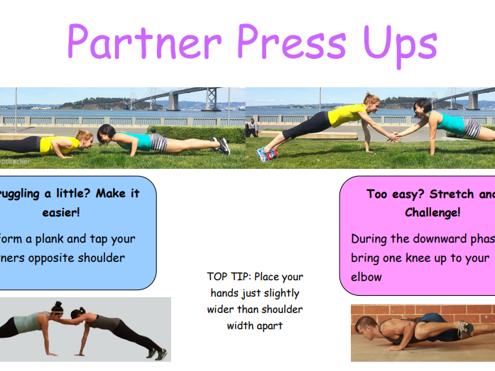 Partner Fitness Circuit Cards