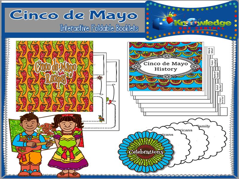 Cinco de Mayo Interactive Foldable Booklets