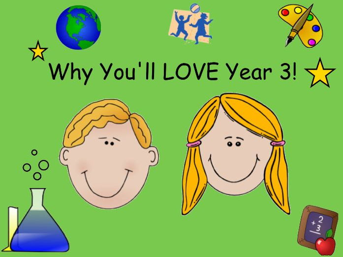 Transition Day - Why You'll Love Year 3 Activity