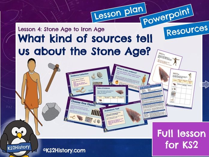 Stone Age Artefacts and Sources of Evidence (Lesson for KS2)