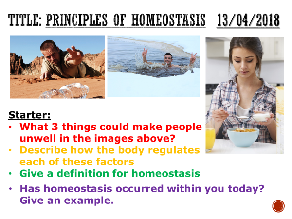 Principles of homeostasis - complete lesson (GCSE 1-9)