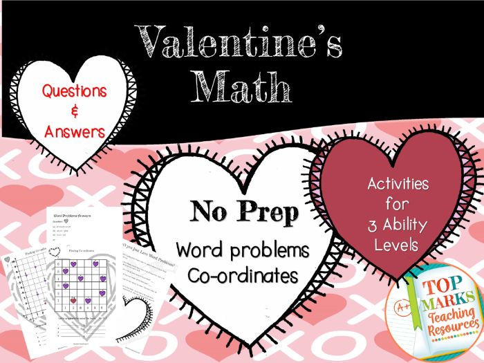 Valentine's Day Maths Pack (Co-ordinates and Word Problems)
