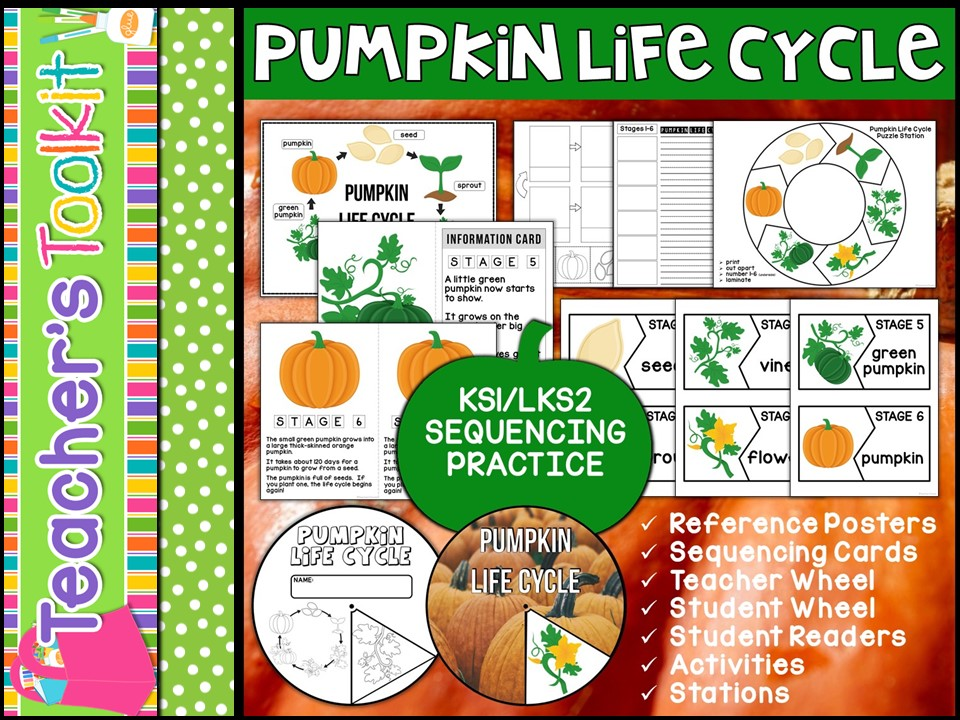 Pumpkin Life Cycle Mini Unit - Sequencing Practice