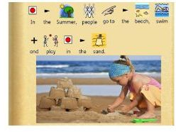 All about summer story and activities widgit symbolised
