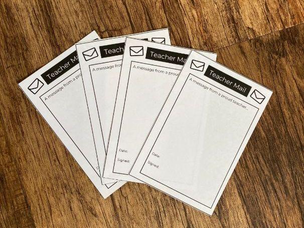 Positive Reinforcement - Teacher Mail (Editable)