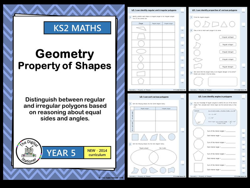 Year 5 - Distinguish between regular and irregular polygons - 23 printables