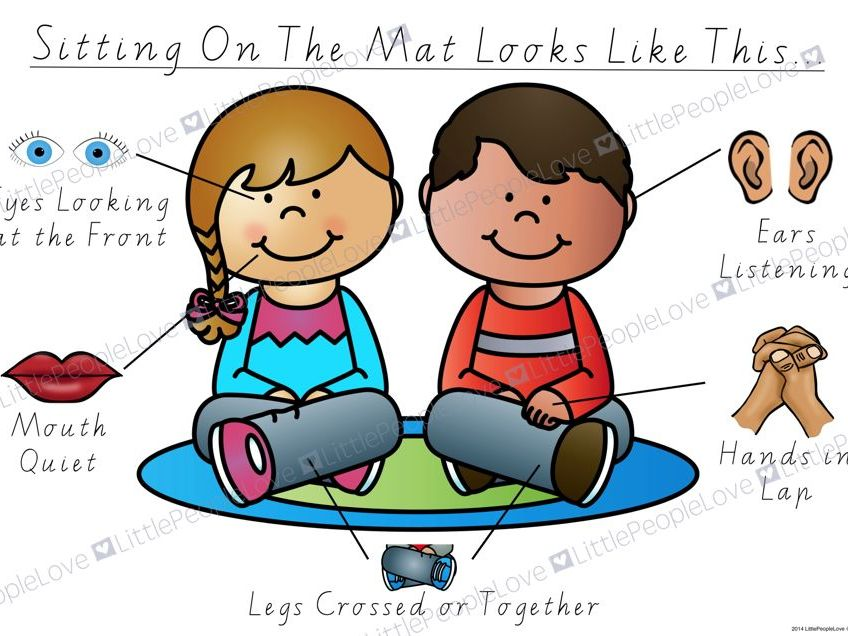Sitting On The Mat Classroom Poster