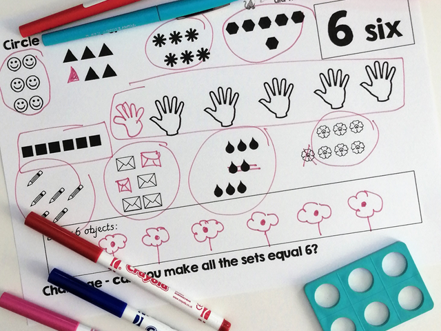 Make sets of 6 for Number sense and Maths mastery