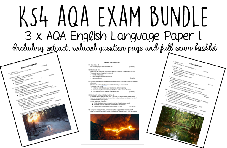 AQA English Language Paper 1 BUNDLE
