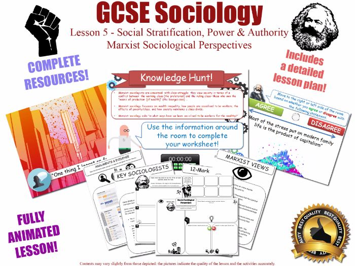 Marxist Views - Social Stratification -  L5/20 [ WJEC EDUQAS GCSE Sociology]