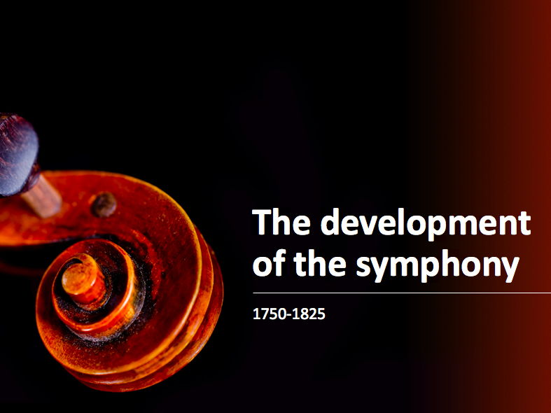 EDUQAS Introduction to the development of the symphony