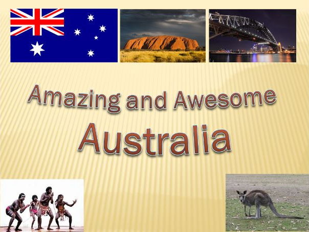 KS2 Geography Amazing and Awesome Australia 5 powerpoint lessons