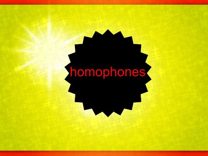 Revision (homophones)