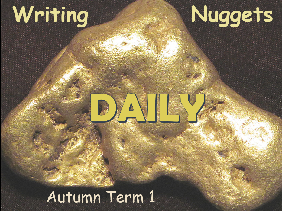 Daily Writing Nuggets with Answers - Autumn Term 1