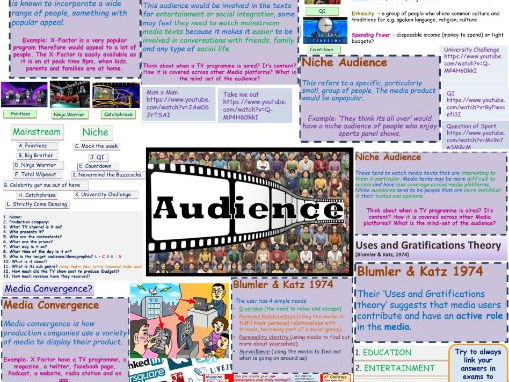 TV GAME SHOW EXAM REVISION POSTER A3  - AUDIENCE