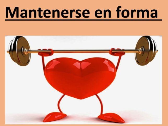 Mantenerse en forma - Healthy lifestyle.