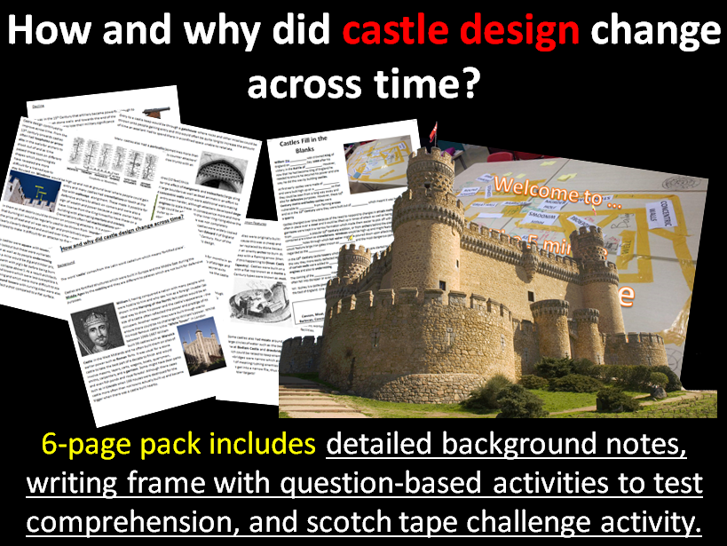 How and why did castles change? 6-page full lesson (notes, worksheet, project)