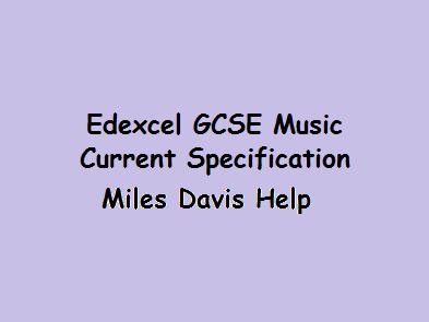 Revision GCSE Music Edexcel Miles Davis