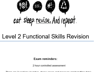 Functional Skills Maths Revision Level 2
