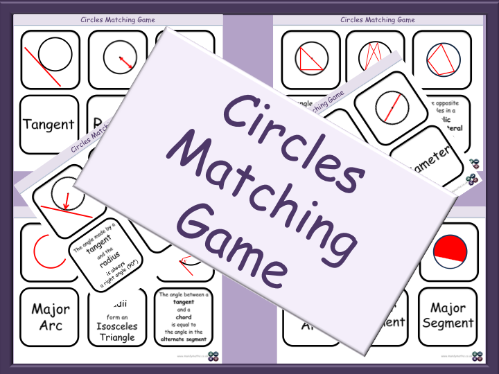 Circles Matching Game - GCSE