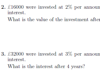 Compound interest worksheet (with solutions)