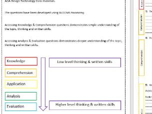 GCSE Core Materials - Paper & Boards - Questions - Homework - Test