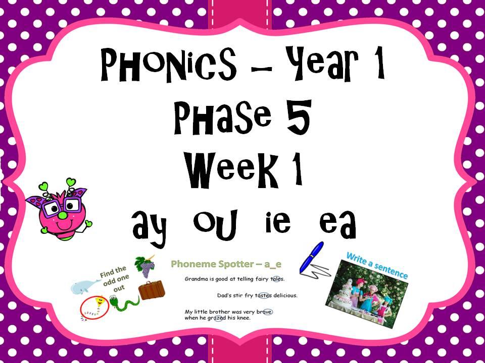 Phase 5 Phonics Lesson Plan Week 1