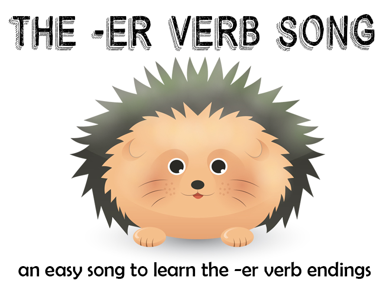 The -ER Verb song - French er verbs