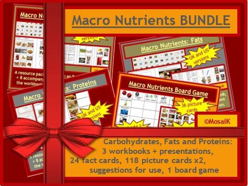 Macro Nutrients BUNDLE carbohydrates fats proteins