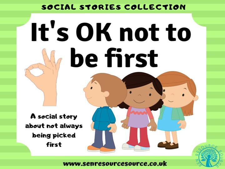 It's OK not to be first social story