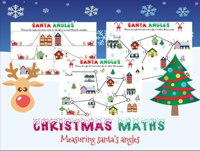 Christmas maths: measuring angles