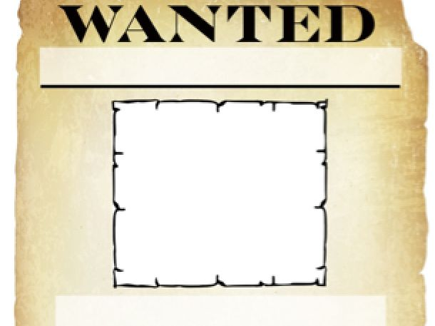 Wanted Poster- blank