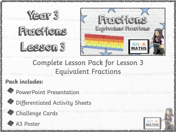 Y3 Fractions Lesson 3 - Equivalent Fractions - Year 3