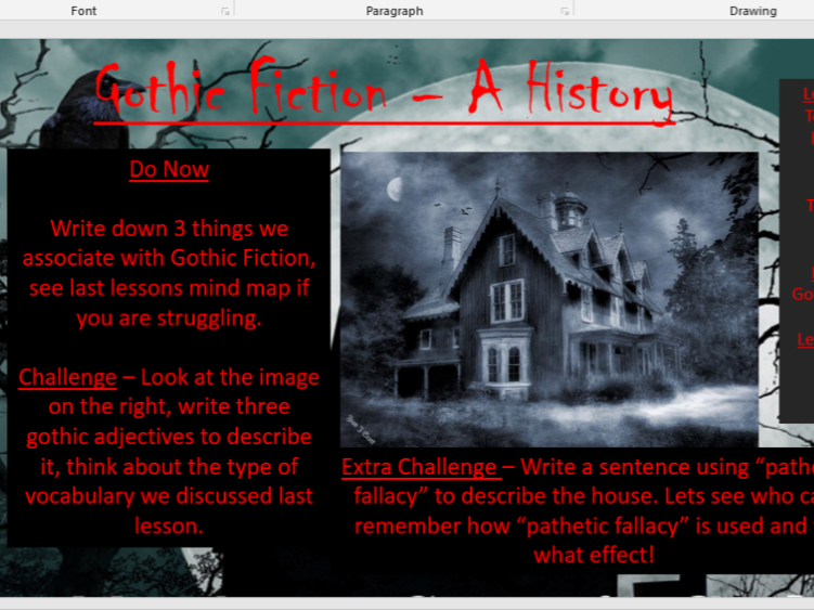 Gothic Fiction - A History