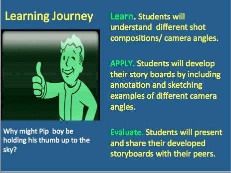 Game Design-Story Board Lesson (HOW TOO)