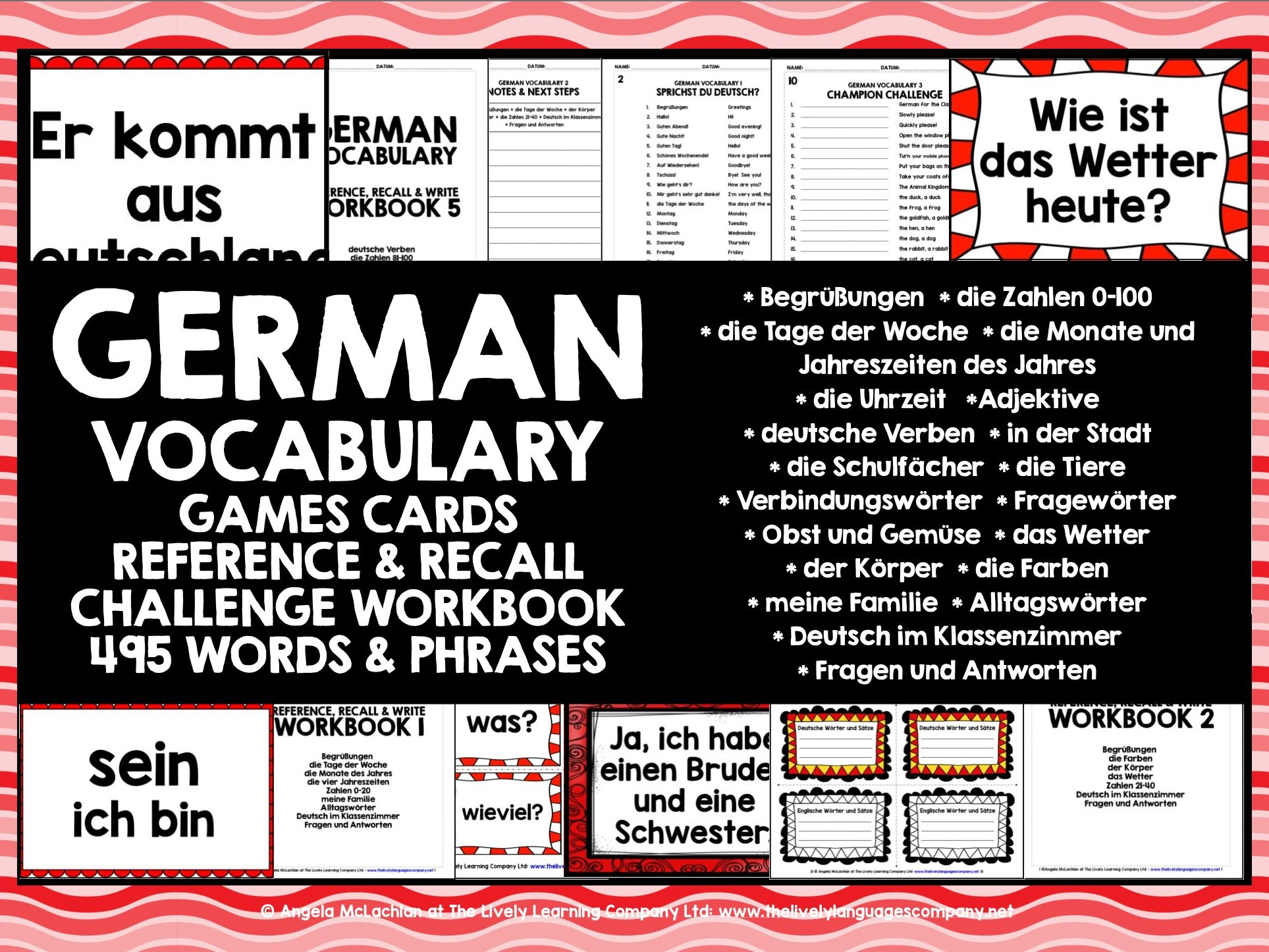 GERMAN VOCABULARY CARDS #1