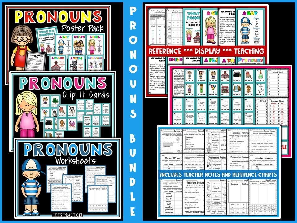 SPAG:  Pronouns Practice and Revision Bundle